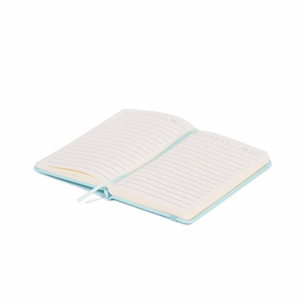 Bloco de anotações azul pastel - 96 folhas pautado