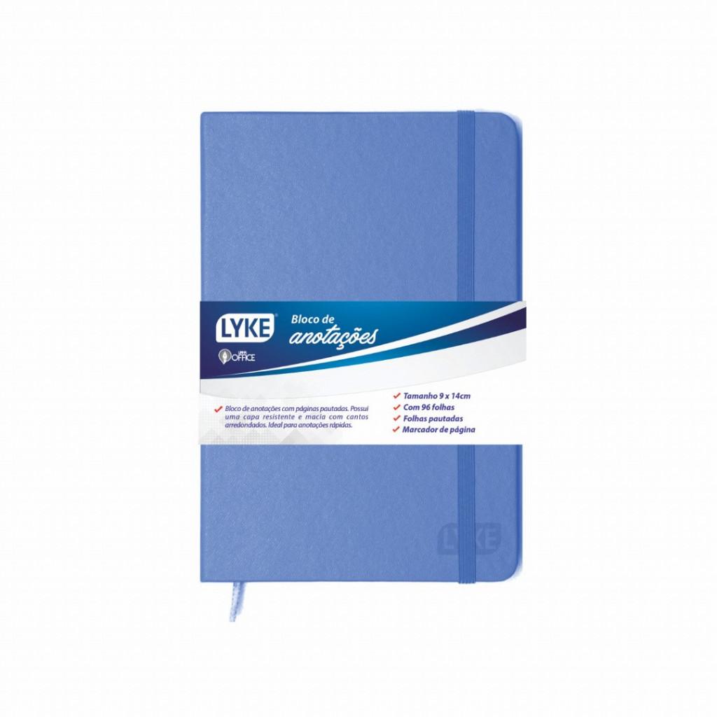 Bloco de anotações azul