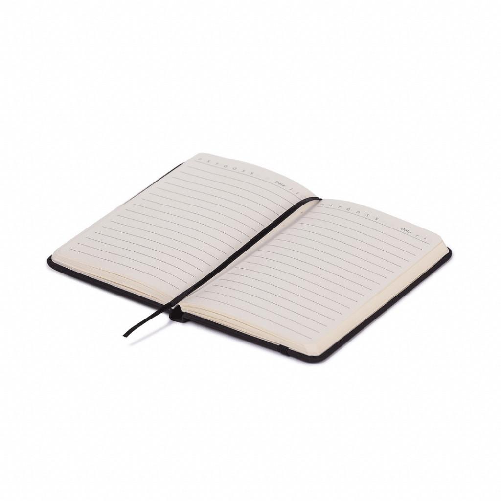 Bloco de anotações preto - 96 folhas pautado