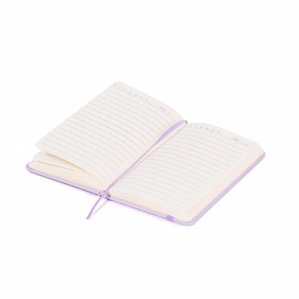 Bloco de anotações roxo pastel - 96 folhas pautado
