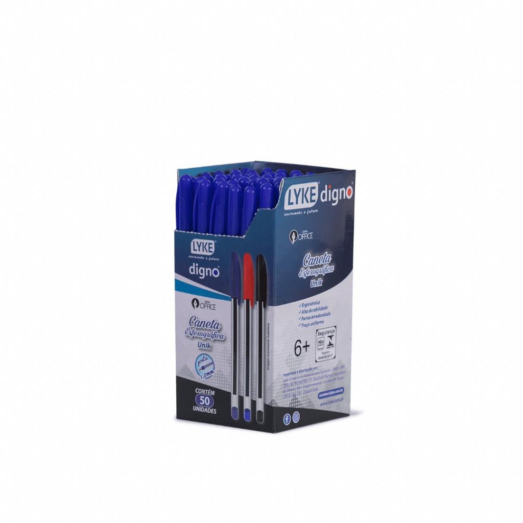 Caneta Esf. UNIK 1.0mm Azul - c/ 50un.