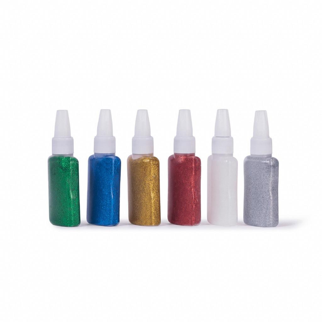 Cola Colorida com Glitter  25 Gramas - cx c/ 6 tubos