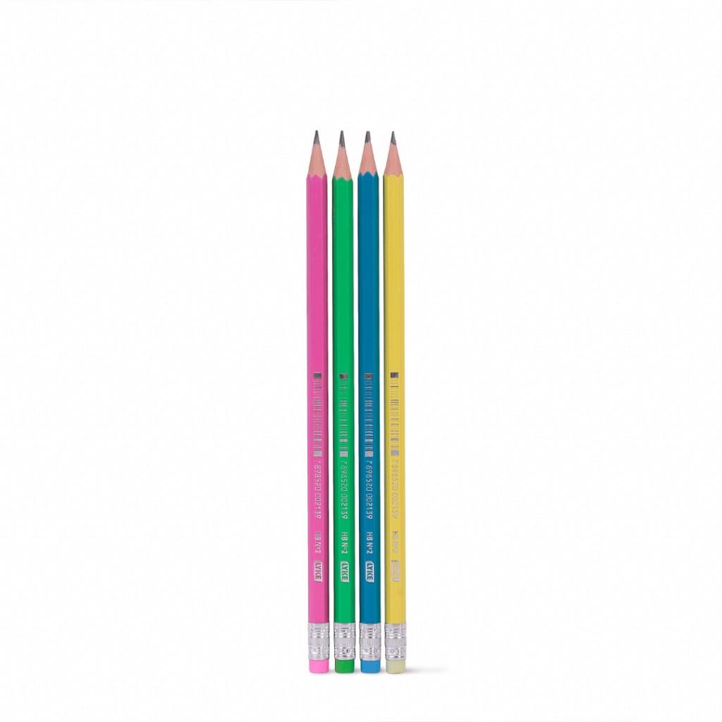 Lápis Grafite N° 2 HB NEON c/ Borracha - Tb c/ 72 unid2