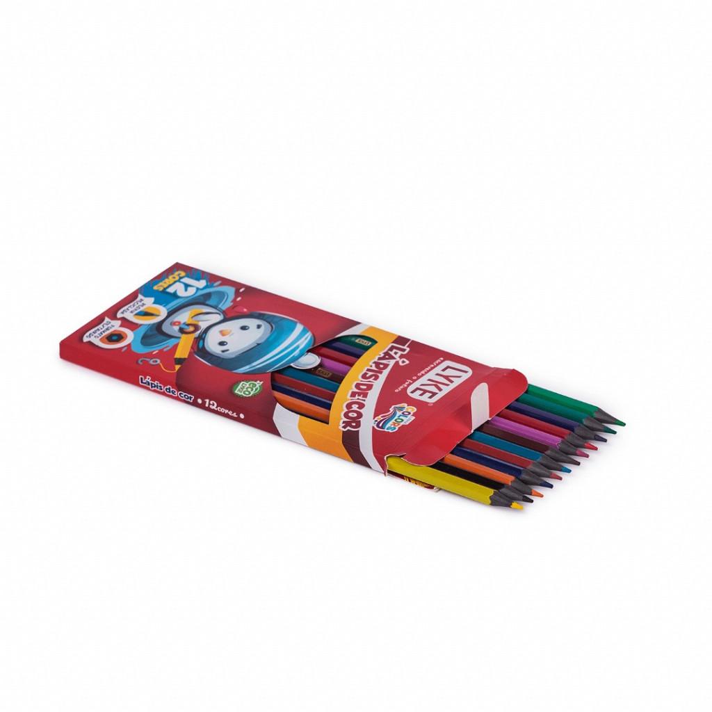 Lápis resina 12 cores