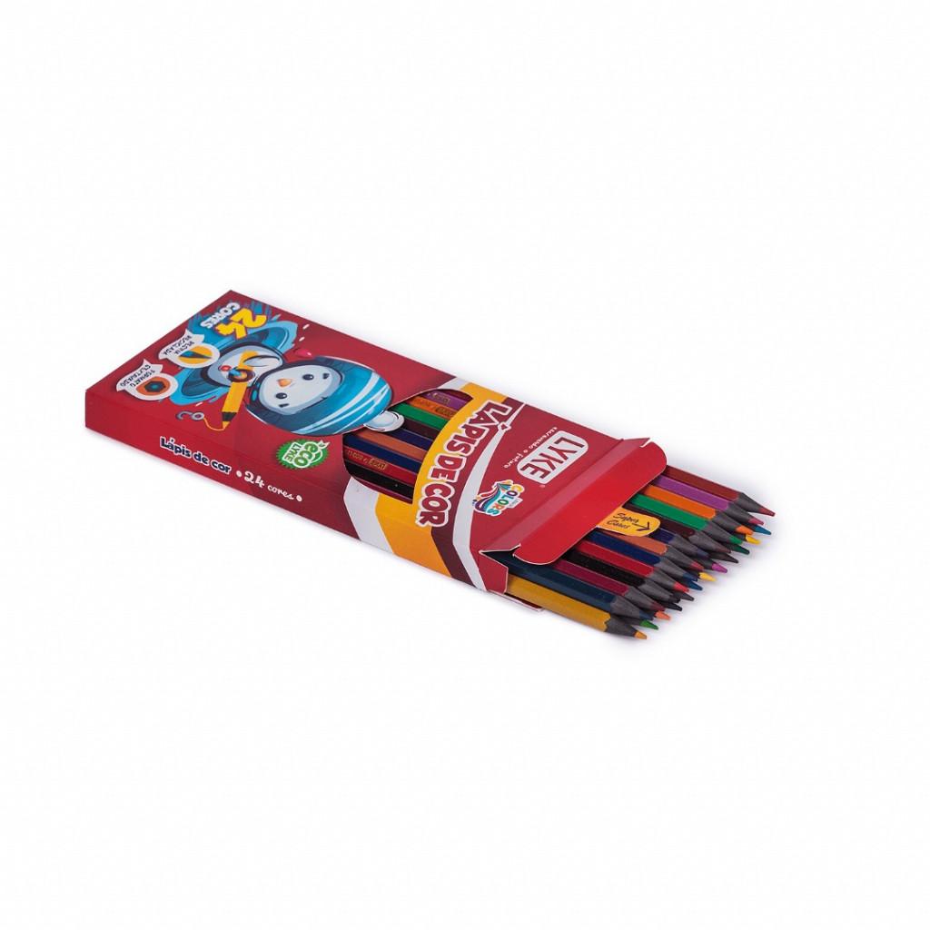 Lápis resina 24 cores