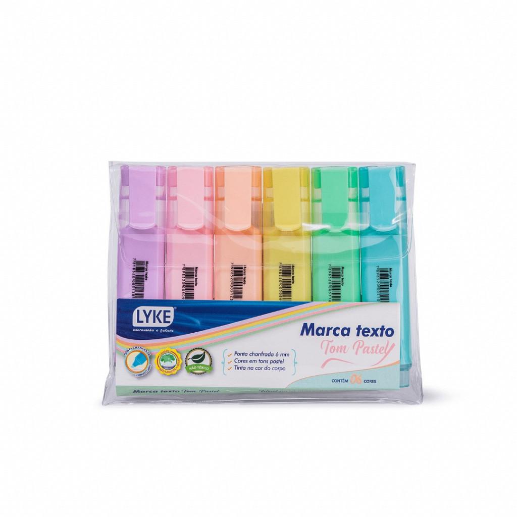 Marca Texto Pastel - 6 cores