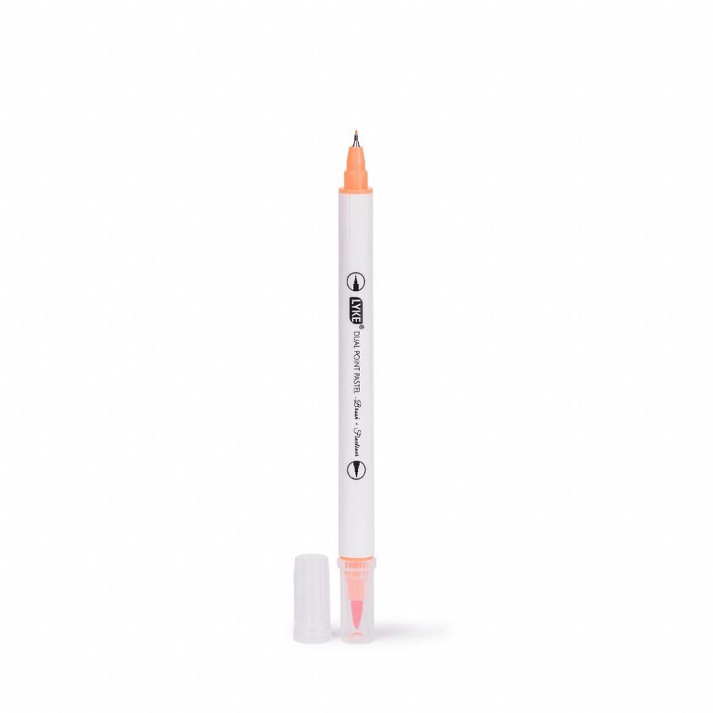 Marcador Dual Point (Brush+Fine) - 6 cores - Pastel