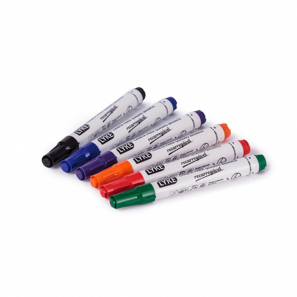 Marcador p/ Qd. Branco Recarregável PT - cx c/ 12 unds