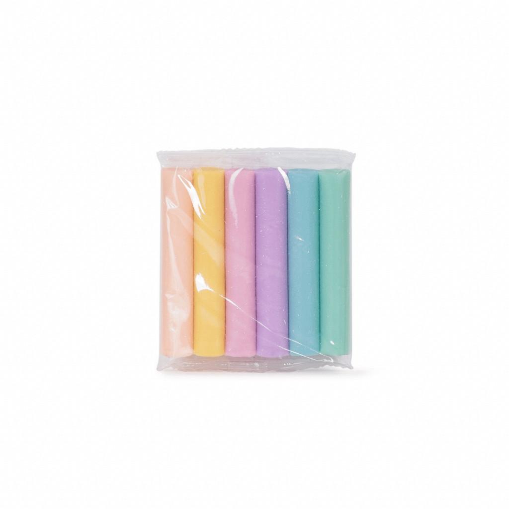 Massa de modelar 6 cores Pastel - 80 gramas