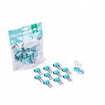 Binder clips 19mm Verde Pastel 12 pcs - Ziper Bag