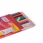 Kit Escolar - Lápis 12 cores  + 4 Lapis grafite - Resina Plática