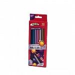 Lápis 10 cores Metalico - Madeira
