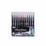 Marcador Brush 12 cores - Ponta Pincel - Aquarelável
