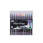 Marcador Brush 12 cores - Ponta Pincel