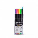 Marcador Fine Line 0.4mm - 6 cores Neon